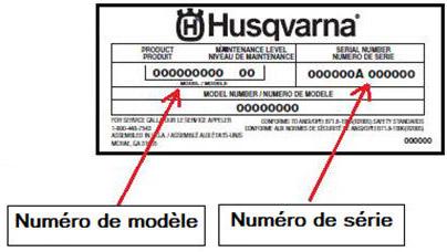 étiquette Husqvarna constructeur