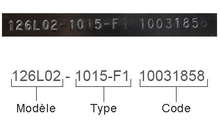 Modèle Type Code moteur Briggs et Stratton