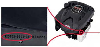 modele type code moteur briggs et stratton pour tondeuse