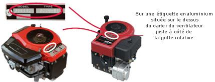 modele type code moteur briggs et stratton pour tracteur tondeuse