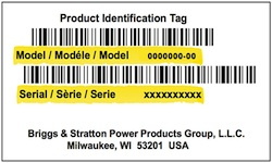étiquette modèle Murray / Simplicity / Snapper