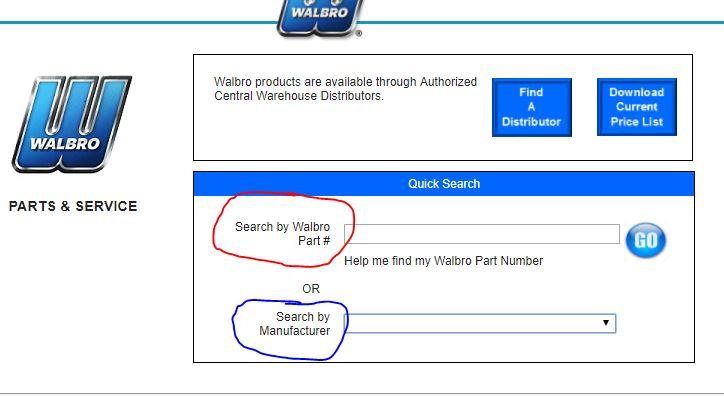 Comment trouver une pièce Walbro